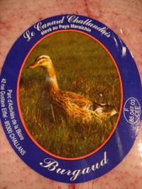 フランス産ビュルゴー家のシャラン鴨入荷致しました